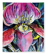 Intensely Orchid Fleece Blanket
