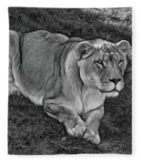Intensity 3 Bw Fleece Blanket