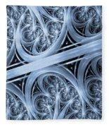 Interchange Cyanotype Fleece Blanket