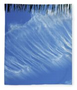 Interesting Clouds Over Phoenix Arizona Fleece Blanket