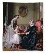 Interior At 'the Chestnuts' Wimbledon Grandmother's Birthday Fleece Blanket