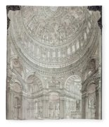 Interior Of Saint Pauls Cathedral Fleece Blanket