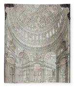 Interior Of Saint Pauls Cathedral Fleece Blanket