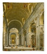 Interior Of St. Peter's - Rome Fleece Blanket