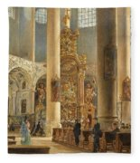 Interior Of The Franciscan Church Salzburg Fleece Blanket