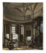 Interior Of The Radcliffe Observatory Fleece Blanket
