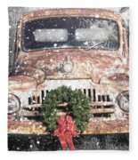 International Christmas Snow Fleece Blanket