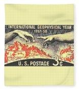 International Geophysical Year Stamp Fleece Blanket