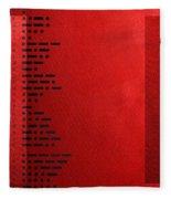 International Morse Code - Black On Red Fleece Blanket