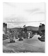 Intersection Of Alvarado And Calle Principal St.s, Monterey Circa 1940 Fleece Blanket