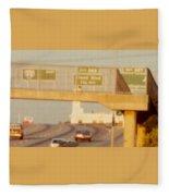 Interstate 44 West At Exit 287, Kingshighway Exit, 1980 Fleece Blanket