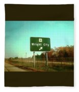 Interstate 70 West At Route H Exit, 1976 Fleece Blanket