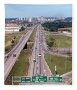 Interstate 74 West At Exit 95b, Route 116 East Exit, 1975  Fleece Blanket