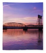 Interstate Bridge Fleece Blanket