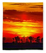 Interstate Sunset Fleece Blanket