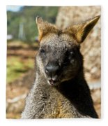 Interview With A Swamp Wallaby Fleece Blanket