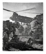 Into Battle - Charcoal Fleece Blanket