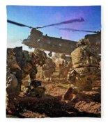 Into Battle - Painting Fleece Blanket