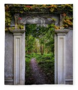 Into The County Galway Countryside Fleece Blanket by James Truett