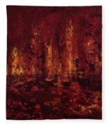 Into The Fire Fleece Blanket