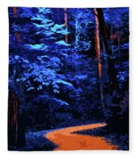 Into The Forest Of Night Fleece Blanket
