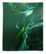 Into The Green...and Beyond... Fleece Blanket