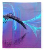 Into The Lagoon Fleece Blanket