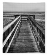 Into The Marsh  Fleece Blanket