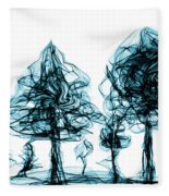 Into The Mysterious Forest Of Imagination Fleece Blanket