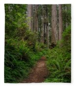 Into The Redwoods Fleece Blanket