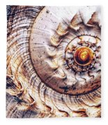 Into The Spiral Fleece Blanket