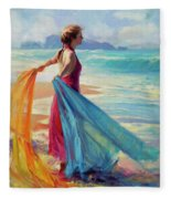 Into The Surf Fleece Blanket