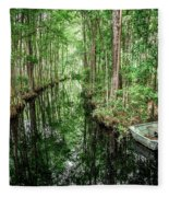 Into The Swamp Fleece Blanket