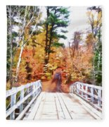 Into The Woods Fleece Blanket