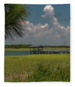 Intracoastal Water In Sullivan's Island South Carolina Fleece Blanket