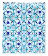 Intricate Geometric Pattern Fleece Blanket