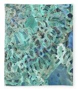 Intuition Unraveled Deep Ocean Fleece Blanket