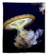 Invasion Of The Japanese Sea Nettles Fleece Blanket