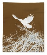 Inverted Crow Fleece Blanket