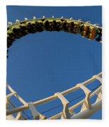 Inverted Roller Coaster Fleece Blanket