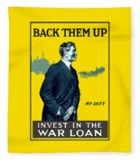 Invest In The War Loan - Ww1 Fleece Blanket