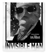 Invisible Man Movie Poster 1933 Fleece Blanket