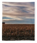 Iowa Corn Fields In The Fall Fleece Blanket