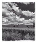 Iowa Cornfield Fleece Blanket