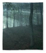 Iowa Fog Rays Fleece Blanket