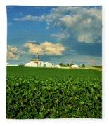 Iowa Soybean Farm Fleece Blanket