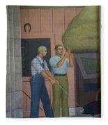 Iowa State Mural - 2 Fleece Blanket
