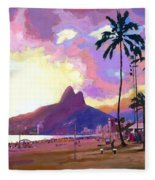 Ipanema Sunset Fleece Blanket