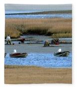 Ipswich River Clammers 2 Fleece Blanket