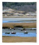 Ipswich River Clammers Fleece Blanket